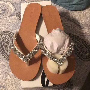 Nine West Rhinestone sandals brand new.